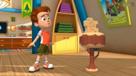 森林小卫士罗布:罗布看见一块拼图,是他妈妈新做的!