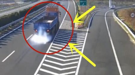 高速路段大货车司机发现自己走错道路,下一秒举止真是让人无语