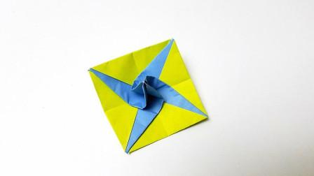 折纸王子星星陀螺,简单好玩,收藏留着教孩子