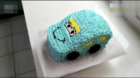 教你自制汽车蛋糕,做法简单,超好吃,宝宝的最爱!