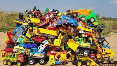 好多的交通工具车!你们都认识吗?趣味玩具故事