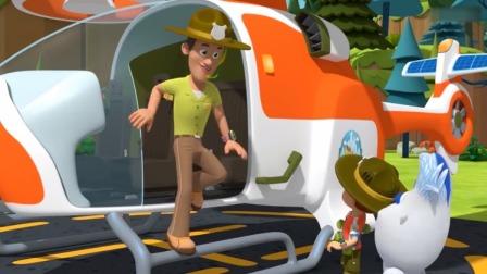 森林小卫士罗布:罗布看爸爸驾驶太阳能直升机,真酷啊!