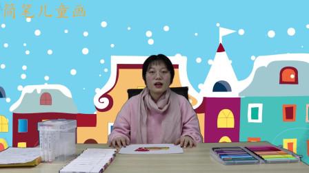 简笔儿童画:小朋友们知道汉堡是怎么画的吗,跟着老师一起学习吧