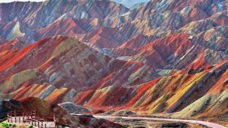 甘肃神奇的彩虹山,究竟是怎么形成的?