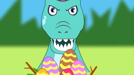 亲宝恐龙世界乐园儿歌:Spinosaurus 棘龙棘龙爱吃肉 恐龙宝宝躲起来