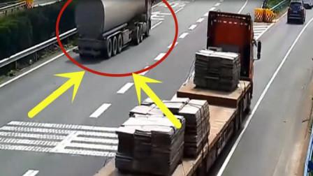 油罐车司机高速路段妄想倒车,几秒后可真是付出了惨痛代价