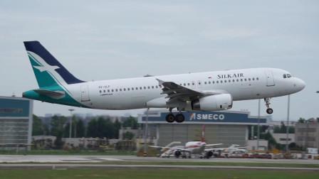 新加坡胜安航空降落成都双流机场