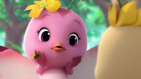 《萌鸡小队2》朵朵:哇,这些花好漂亮呀