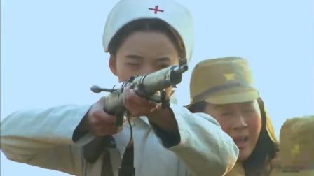 鬼子重兵堵门,八路狂丢酒精瓶,护士猛然一枪烧死鬼子!