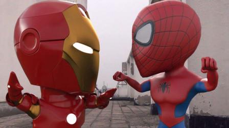 钢铁侠和蜘蛛侠一起拍广告,超级英雄也爱NBA!