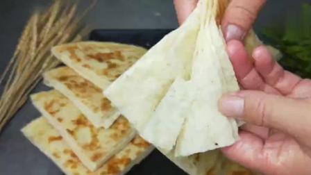 1碗面粉,半碗油酥,教你做好吃的千层饼,越嚼越香,做法超简单