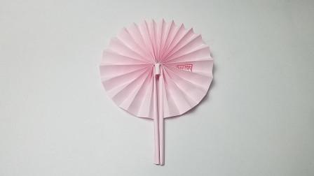 折纸王子圆扇子,简单形象,收藏留着教孩子