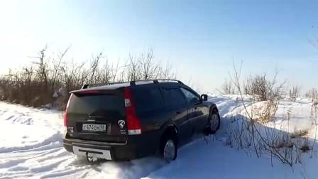 沃尔沃XC70的越野性能怎么样?开去雪地里转几圈心里就有数了