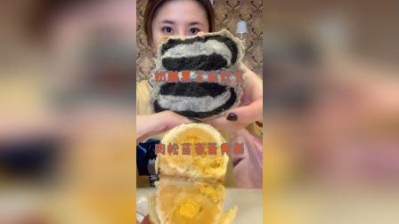 黑芝麻奶酪欧包✚肉松莲蓉蛋黄酥