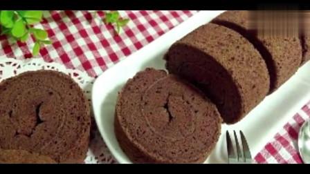 教你做简单易学的可可戚风蛋糕卷,香浓的可可味道简直太棒了!