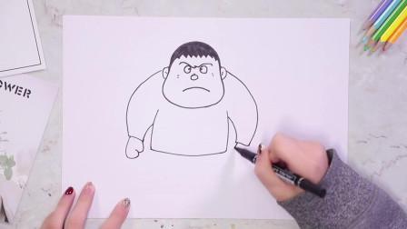 动漫人物怎么去画,教你简单人物画法