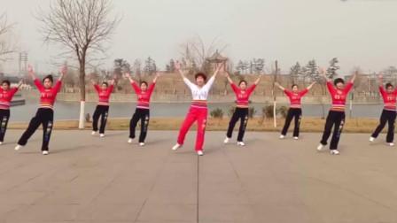 动感欢快广场舞《合家欢》动作示范,活力时尚简单易学