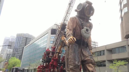 巨型牵线木偶在蒙特利尔