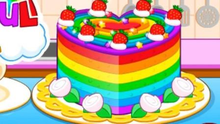 五颜六色的蛋糕过家家玩具