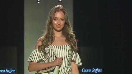 美女模特穿衣时尚,T台上走出迷人风采,真是一场精彩的走秀