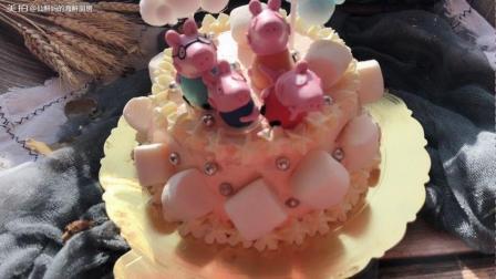 小猪佩奇生日蛋糕简易做法