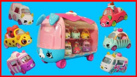 北美玩具 第一季 小猪佩奇与购物精灵迷你小汽车车库的玩具