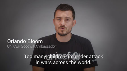Orlando Bloom calls for child protection