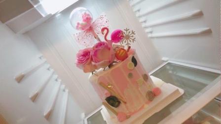 美拍视频: 鲜花蛋糕