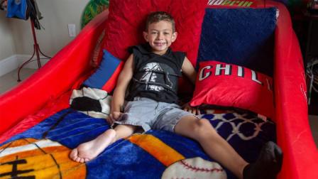美国男孩天生右腿畸形,截肢后用脚踝代替膝盖,梦想成为NBA球员!