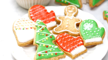 foodyvideo 吃货视频 第一季 圣诞甜品diy:萌到犯规的糖霜饼干