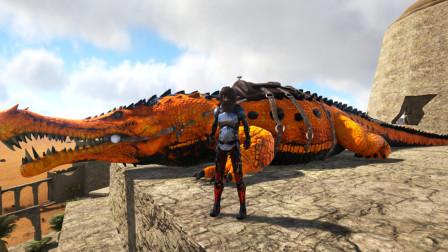 方舟生存进化普罗米修斯 100 黄金帝鳄威力很大但是就是太笨了