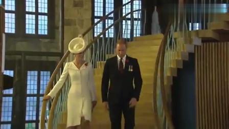 凯特王妃好瘦,这气质简直了!威廉王子的秃顶好抢镜头发又少了