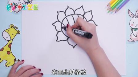 向日葵简笔画怎么画?画向日葵详细教程