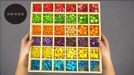 手工小伙自制的糖果分拣机,颜色自动归类,满足强迫症患者