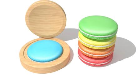神奇木质厨具制作美味马卡龙蛋糕