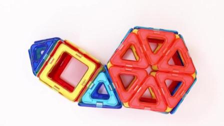 大象玩具屋:教宝宝玩磁力片之蜗牛