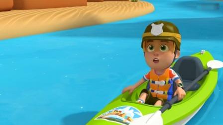 森林小卫士罗布:罗布发现小吉被卡在峡谷的山壁上,去救它!