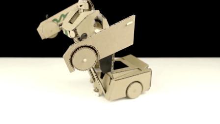 牛人使用硬纸板制作DIY变形金刚,成品还真能变