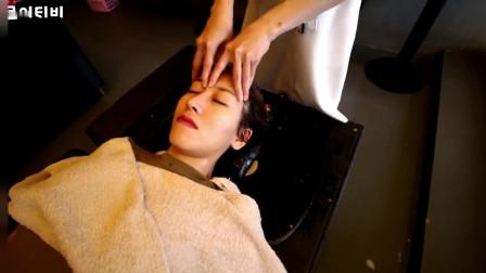韩国美女在越南的理发按摩4