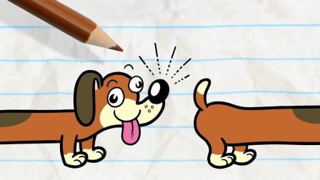 搞笑铅笔画小人:狗狗为什么打架?游戏