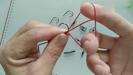 钓鱼技巧:教你如何快速正确的绑鱼钩,可以现学现用!