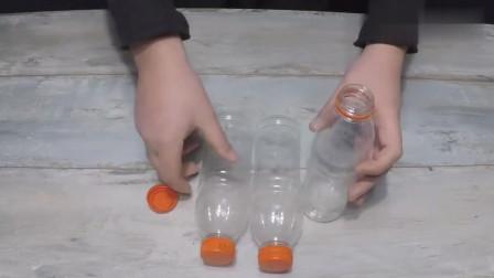 简单的三个塑料瓶和几根吸管,就能制作喷泉,回家赶紧试试