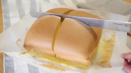 像海绵一样松软的台式蛋糕,做法简单一看就会,切起来还会晃动