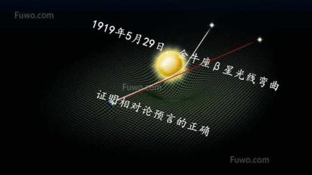 爱因斯坦广义相对论被证实的一次天文观测,光线绕过太阳发生弯曲