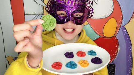 """小姐姐试吃""""3个小青椒巧克力"""",五颜六色有创意,甜香丝滑超赞"""