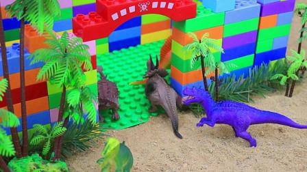 乐高益智积木 用积木建一座恐龙城堡