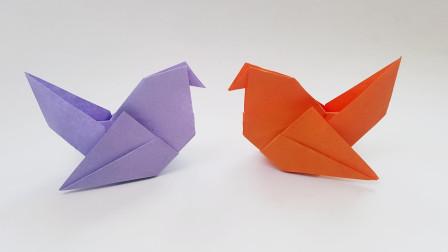 折纸王子可爱小鸟,简单形象,收藏留着教孩子