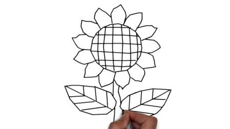 儿童简笔画学习 第一季 向日葵简笔画画法