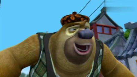 """光头强被熊二用""""花轿""""戏耍,看到最后还有点心疼强哥!"""