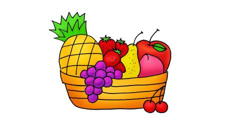 教你一招常见水果组合的画法,非常实用|卡通简笔画教程